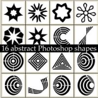 Abstract Photoshop Custom Shapes by Brushportal