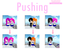 Is not the same with yandere-chan (Pushing) by yandereskins050802