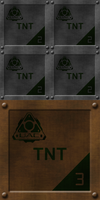 Small Grey TNT Crates on Brown Crate by Hoover1979