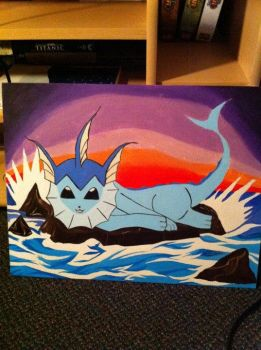 Vaporeon On A Rock by KurtisLauwereys