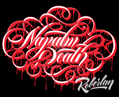 Napalm Death Script Lettering by roberlan