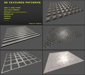 Free 3D textures pack 07 by Yughues