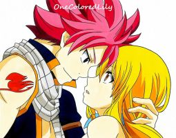 Natsu and Lucy (3) by OneColoredLily