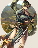 Lady Lyndis of Sacae by nayuun