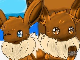 Eevee Cousins (Contest Entry 1/4) by JustinRoKStar