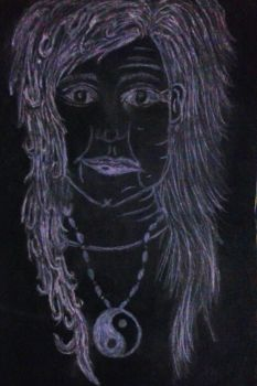 The Ageing Woman Charcoal by TheMC143