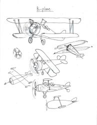 Draw a Biplane by Diana-Huang