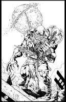 First Comics Cover Pinup - 131218 - inks by JeffGraham-Art