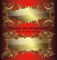 Ornaments design elements color LZ 22 by Lyotta