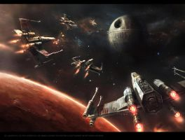 The Defense of Yavin 4 by Madboni