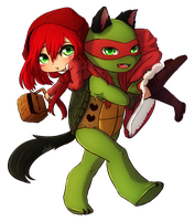 Red and Wolf by CutieClovers