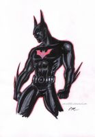 Batman Beyond Sketch by em-scribbles