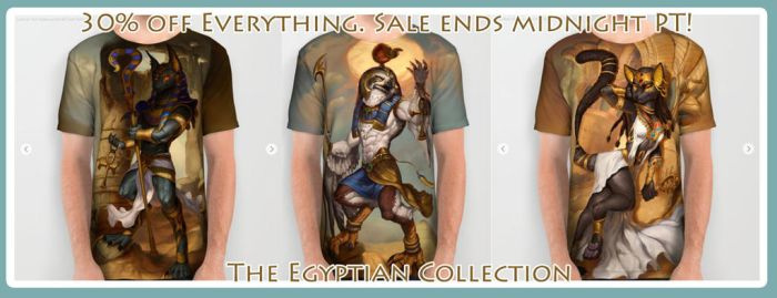 The Egyptian Collection All-Over Shirts by The-SixthLeafClover