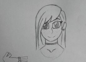 Another random girl sketch by Zecory3