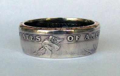 George Washington Dollar Coin Ring by TCSCustoms