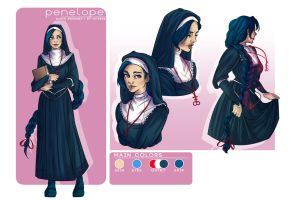 Comm: Penelope's character sheet by Jeyerre