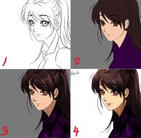 Anime coloring tutorial by Esther-Shen