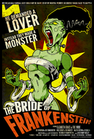 The Bride of Frankenstein by luvataciousskull