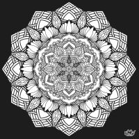 Lotus and flower (coloring page) by AleLMT