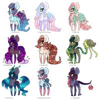 Mixed Closed Species Adopts (2/8 open) by Points-for-Fritty
