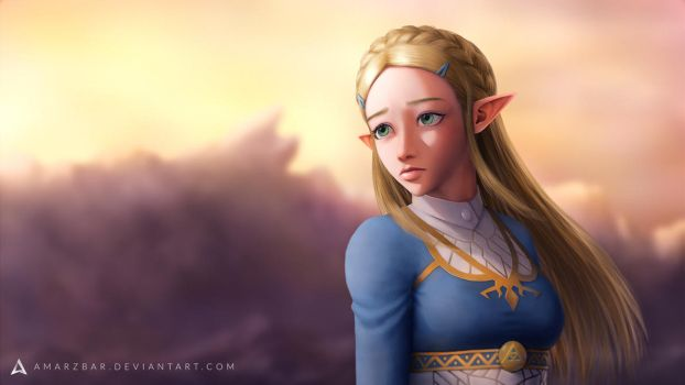 Zelda, Breath of the Wild by Amarzbar