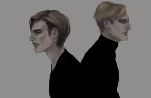 Leon and Amon by PollyQuiet