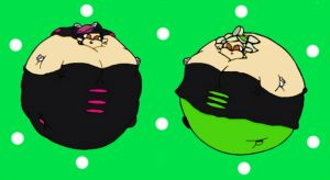 Ballooned Inkling Sisters by EdgeOfMind
