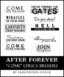 After Forever - COME - Brushes by faelivrinen-stock