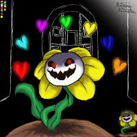 Flowey!!!!!!!!!! by LibraryCrew