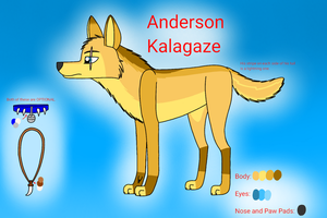Newest Character Reference: Anderson Kalagaze by KasiArtsAndStories18