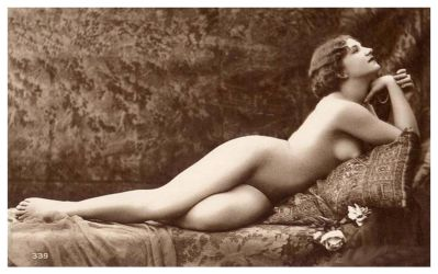 Vintage Lady Reclined Nude 15 by Bnspyrd
