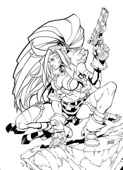 red monika nightwar inks by Fendiin