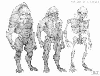 anatomy of a krogan CLEAN VERSION by lupodirosso