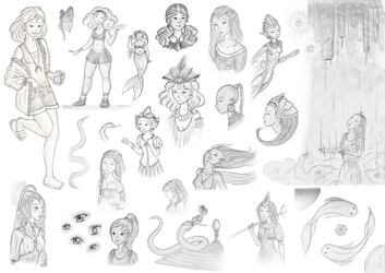 Sketchdump #1 - Sketchbook collection by poussiere-d-ange