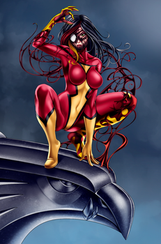 My Commission: Spider Woman SCREAM by gh0st-of-Ronin
