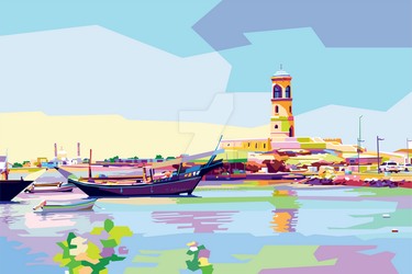 WPAP Pop Art Commission - Landscape by AdamKhabibi