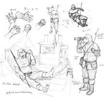 Additional Shoreman Sketches by Pyrosity