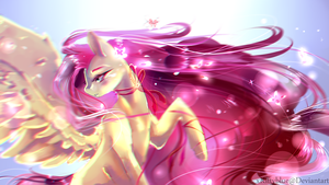 MLP Fluttershy | Petals by xKittyblue