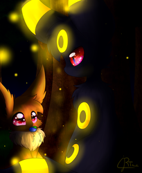 -A Fateful Encounter?- (Umbre and Eevee) by Reyna174
