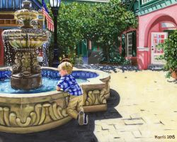 Jack at the Fountain in St. Augustine by Moni3