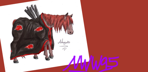 Colored Nagato Horse by nightwindwolf95