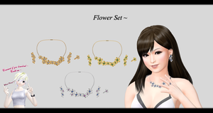 [MMD] Flower Set DL ~ by o-DSV-o