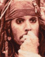 Jack Sparrow - Cross Stitch 2 by shingorengeki