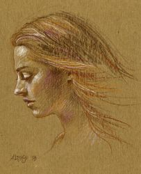 Cardboard Portrait by ChristineAltese