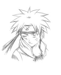 Early Naruto sketch by MasashiKishimoto