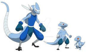 The water type starters by DeeJaysArt1993