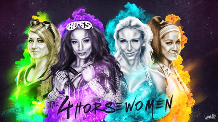 The 4 Horse Women Wallpaper by workoutf