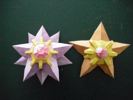 Staryu and Starmie papercraft