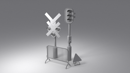 Lowpoly traffic models by MiekeYperman