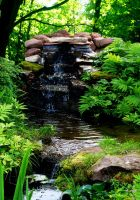Waterfall 1 by B-SquaredStock